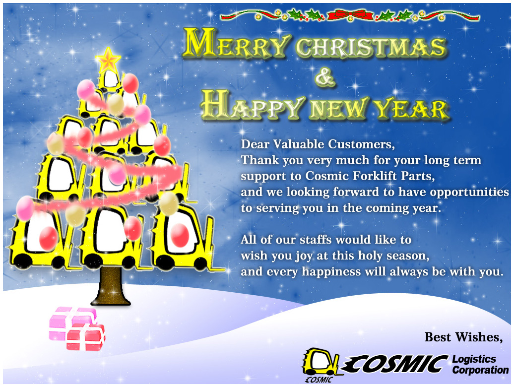Cosmic Forklift Parts Merry Christmas 2013hot Newscosmic Forklift