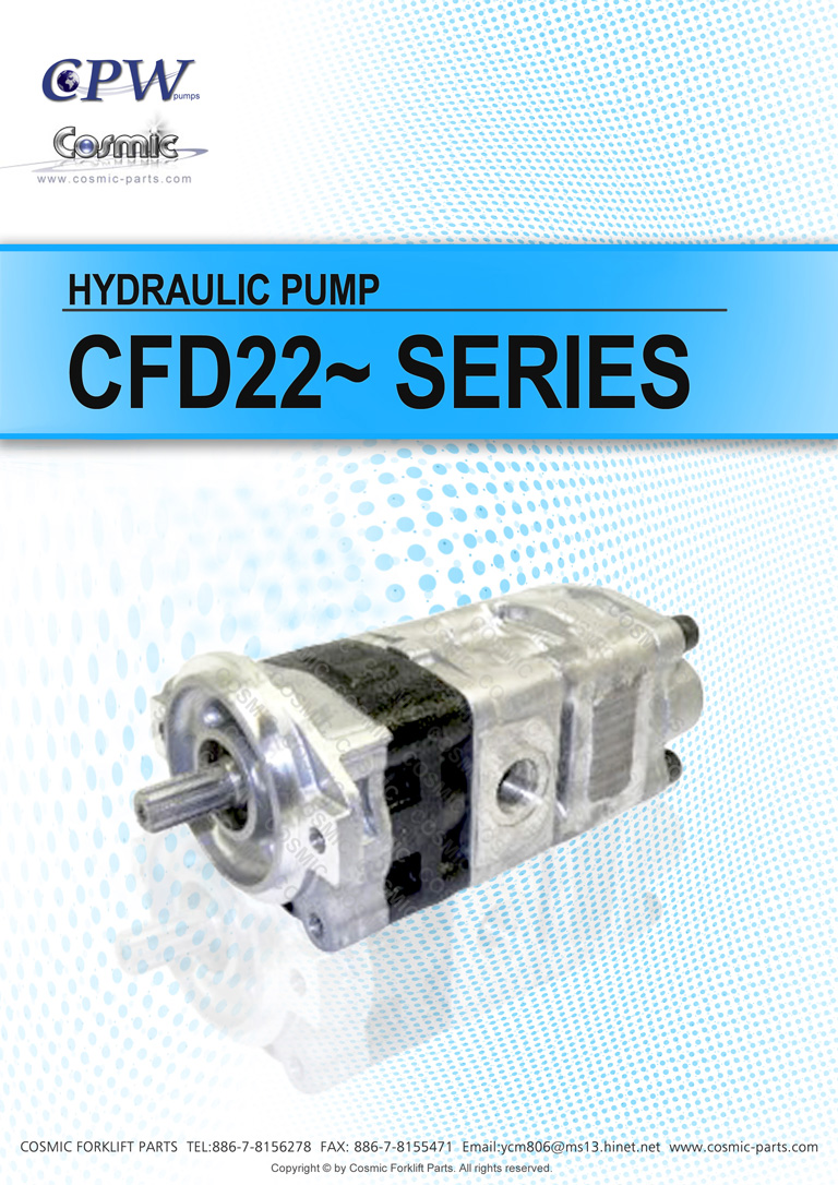 Cosmic Forklift Parts On Sale No 347-CPW HYDRAULIC PUMP